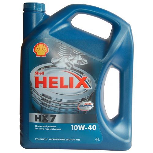 Моторное масло Shell Plus HX7 10w40, 4л