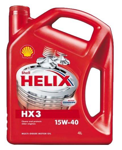 Минеральное моторное масло Shell Helix HX3 15w-40 4л