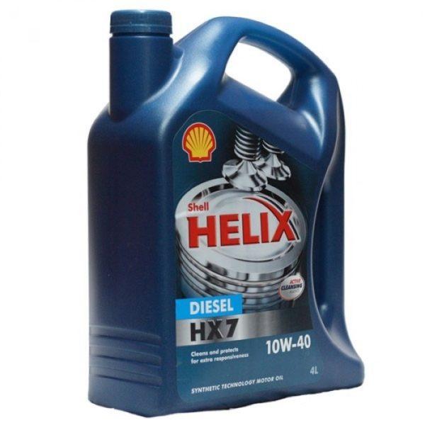 масло полусинтетическое Helix HX7 Diesel 10W-40 4л